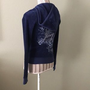 Juicy Couture Tops - NWT Juicy Couture Blue Zip Up fleece